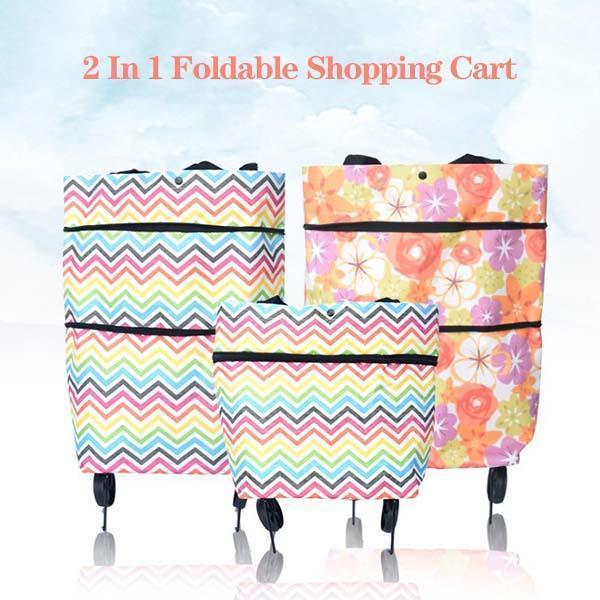 Foldable Shopping Trolley Tote Bag