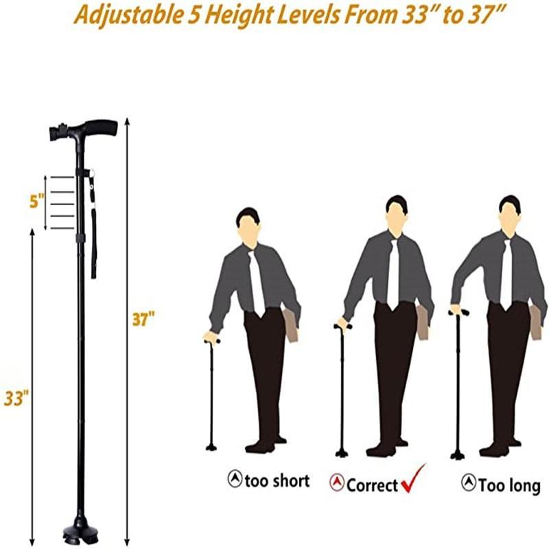 LED Lighted Folding Hand Rod