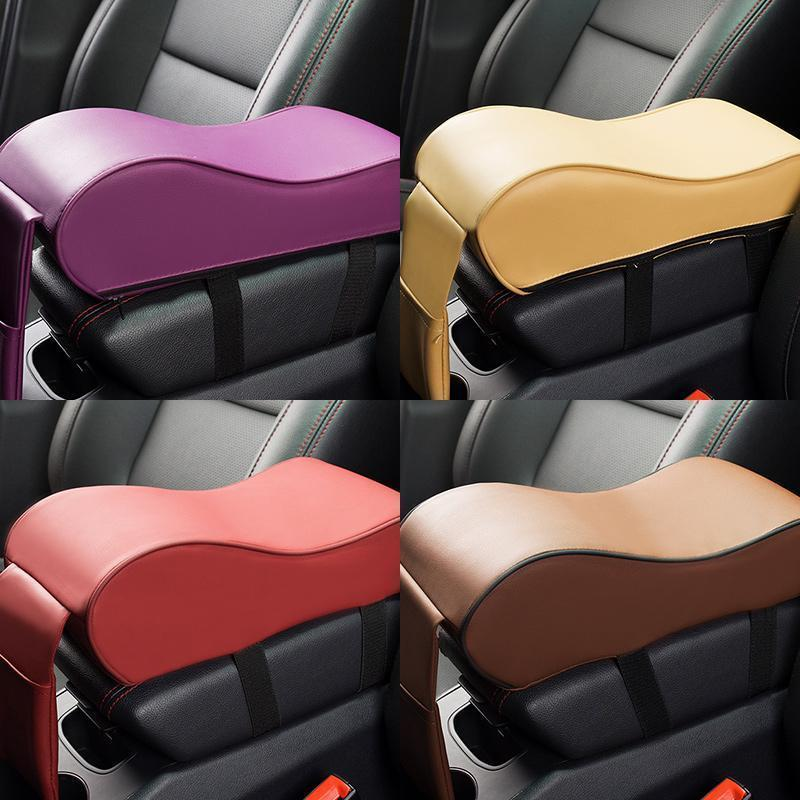 Auto Center Console Armrest Pillow with Phone Holder Storage Bag