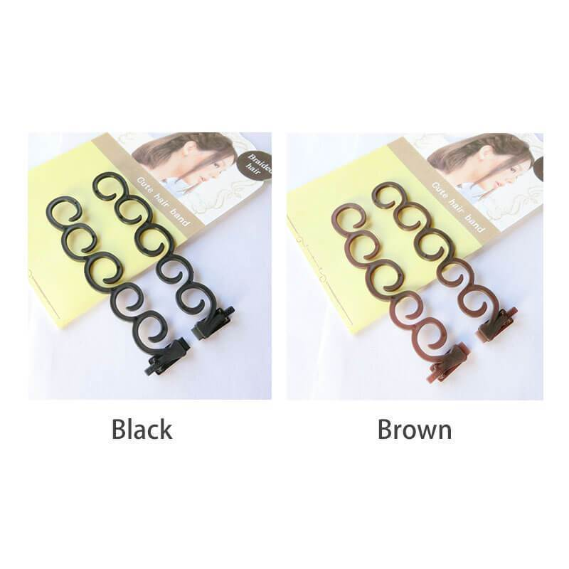 Twist Plait Hair Braiding Hairdressing Tools (2pcs)