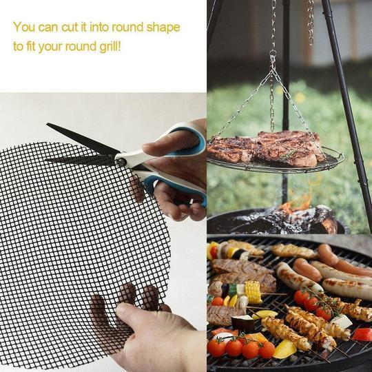(70% Off!!) Teflon Non-Stick Grill Mat (3PACK)