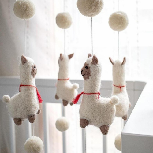 Dancing Llama Baby Mobile-Decor-Tara Treasure-Merino & Me