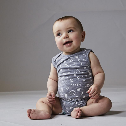 Hadley Sleeveless Bodysuit-Bodysuit-Little Flock of Horrors-Merino & Me