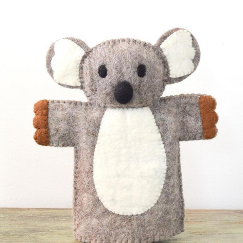 Koala Hand Puppet-Decor-Tara Treasure-Merino & Me