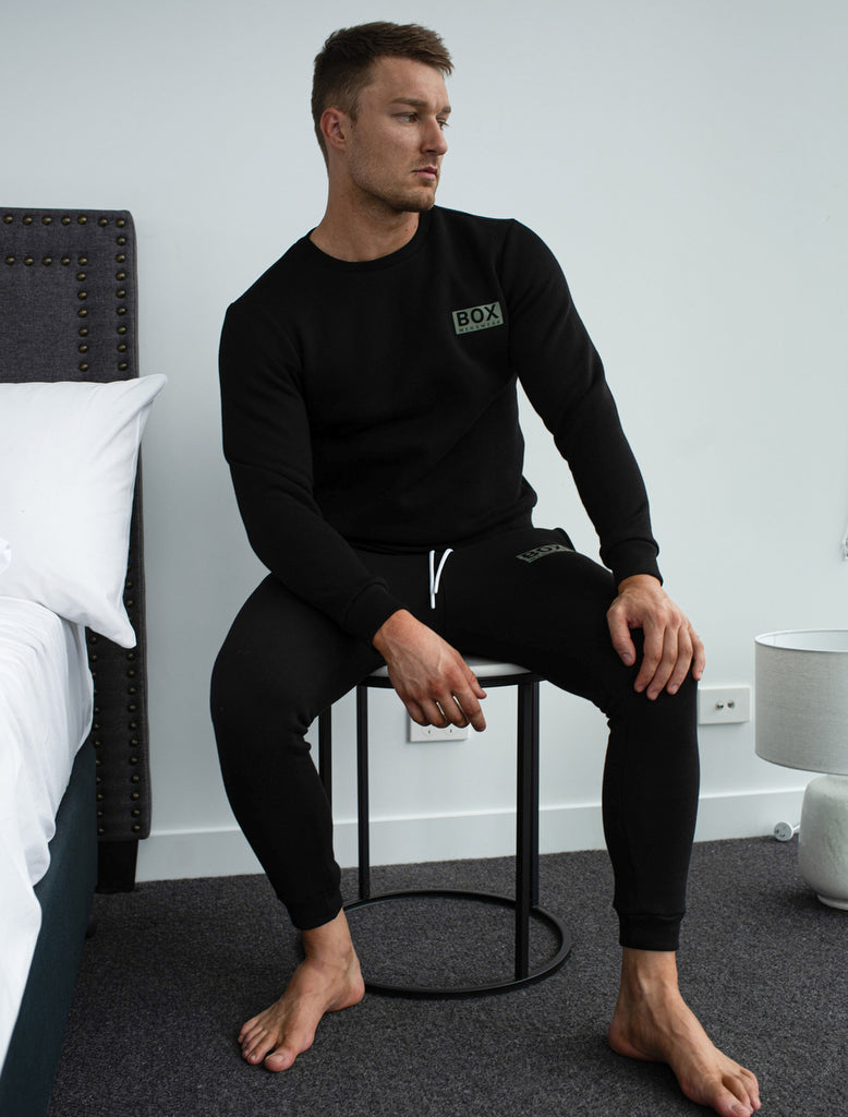 Fleece Jogging Bottoms - Black