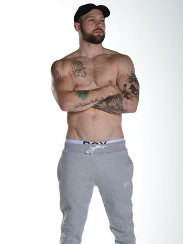 Slim Fit Fleece Joggers Grey Super Soft Bulge