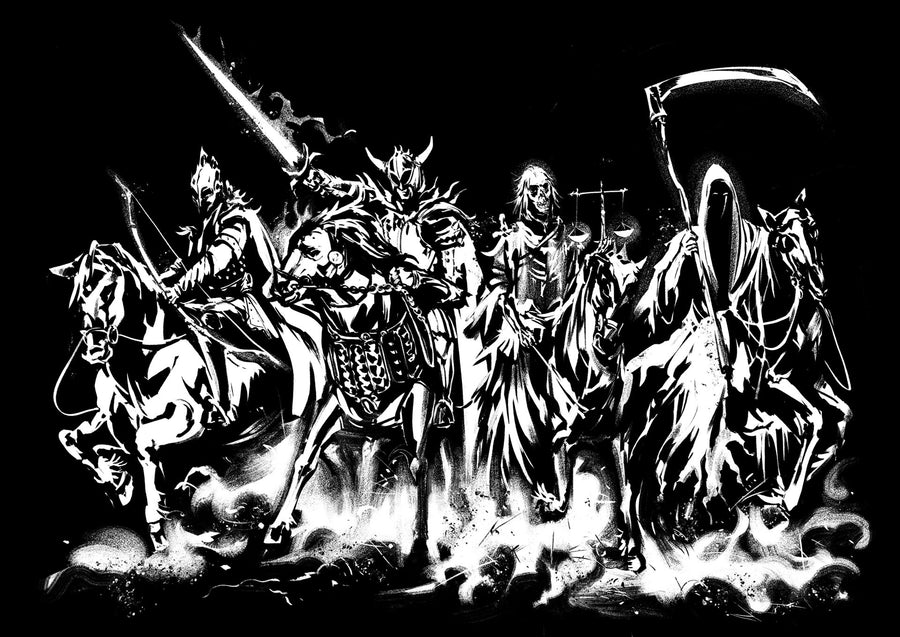 THE FOUR HORSEMEN BACK PRINT - APOCALYPSE COLLECTION