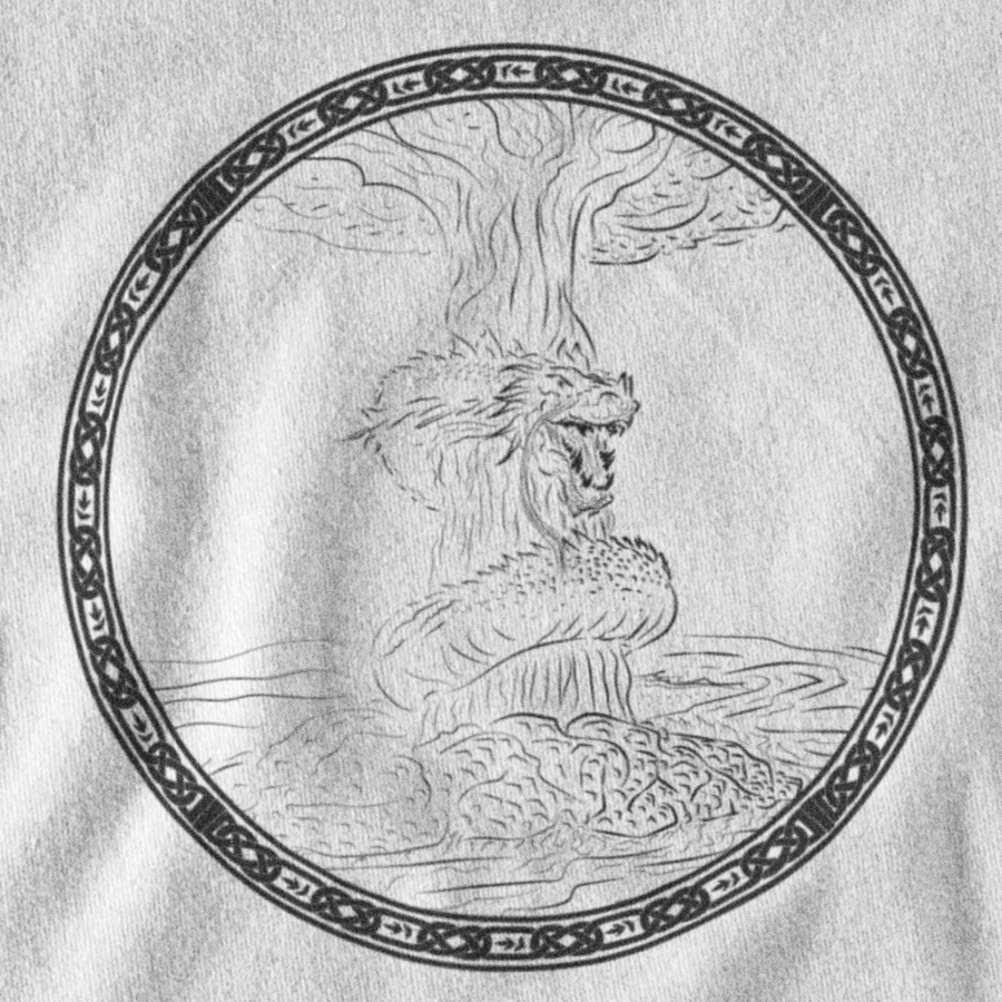 INVERTED JORMUNGAND T-SHIRT - NORSE MYTHOLOGY