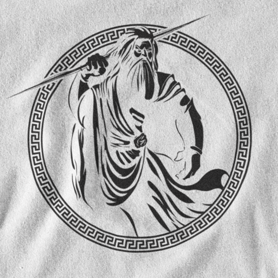 INVERTED ZEUS T-SHIRT - GREEK PANTHEON