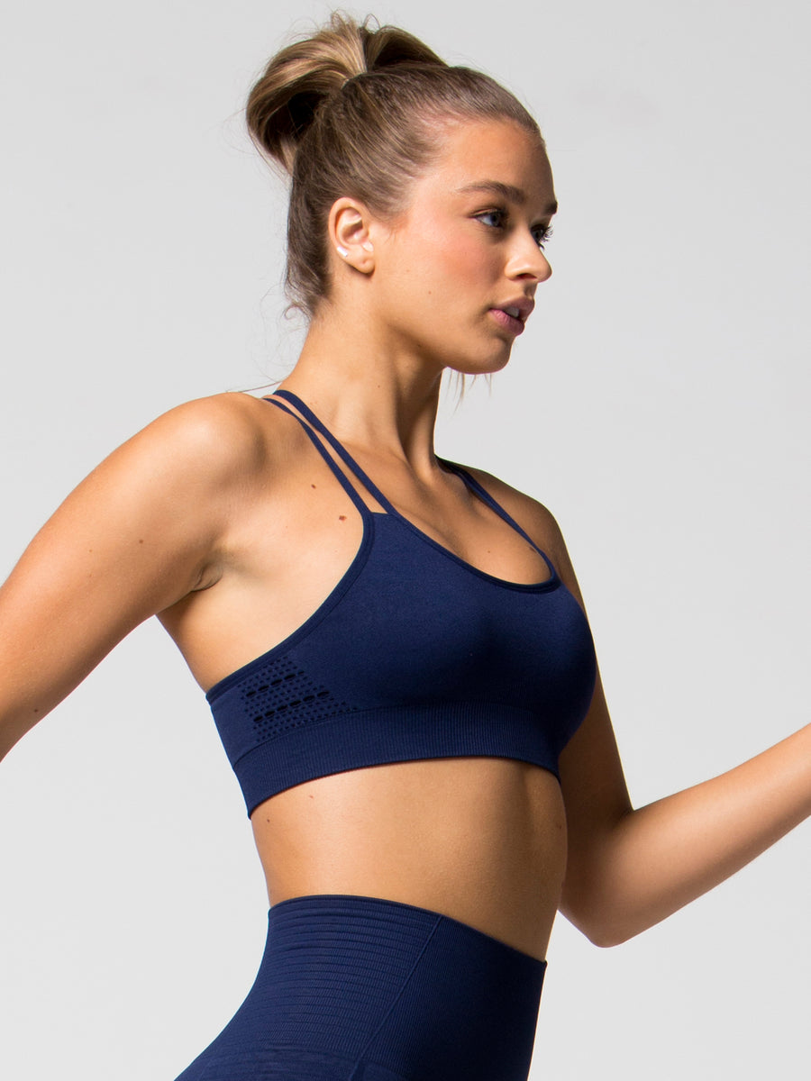 Kinetic Seamless Sports Bra - Navy