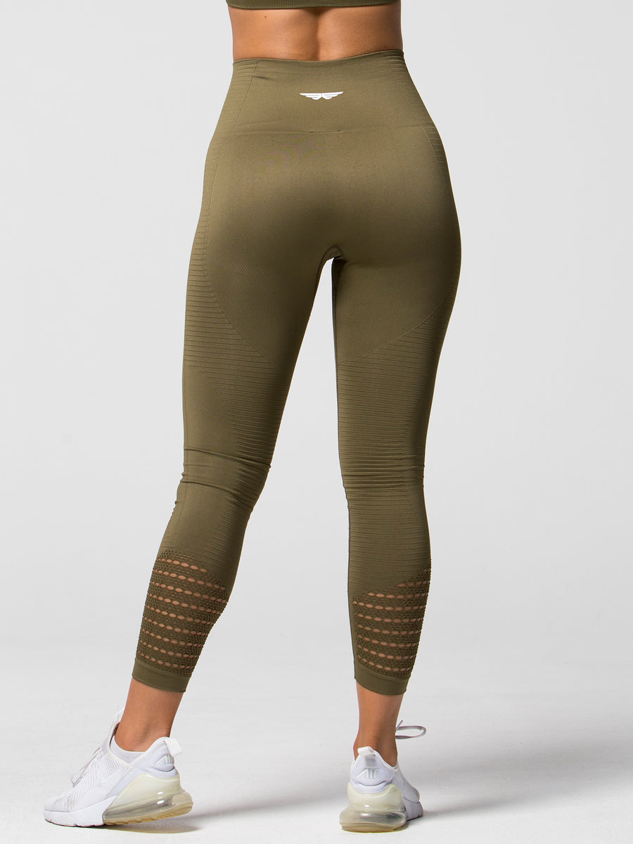 Kinetic Seamless Leggings - Khaki