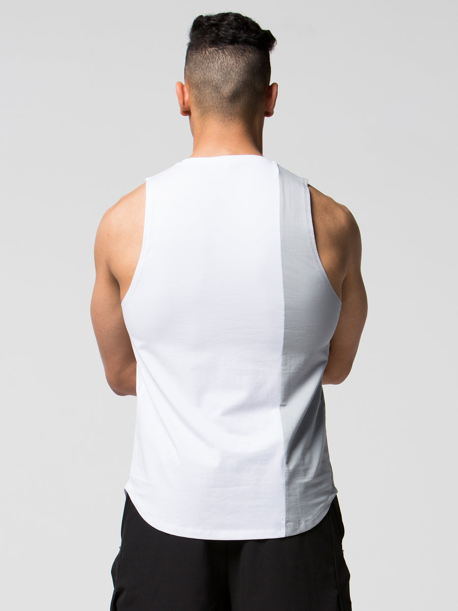 Offset Tank - White/Grey