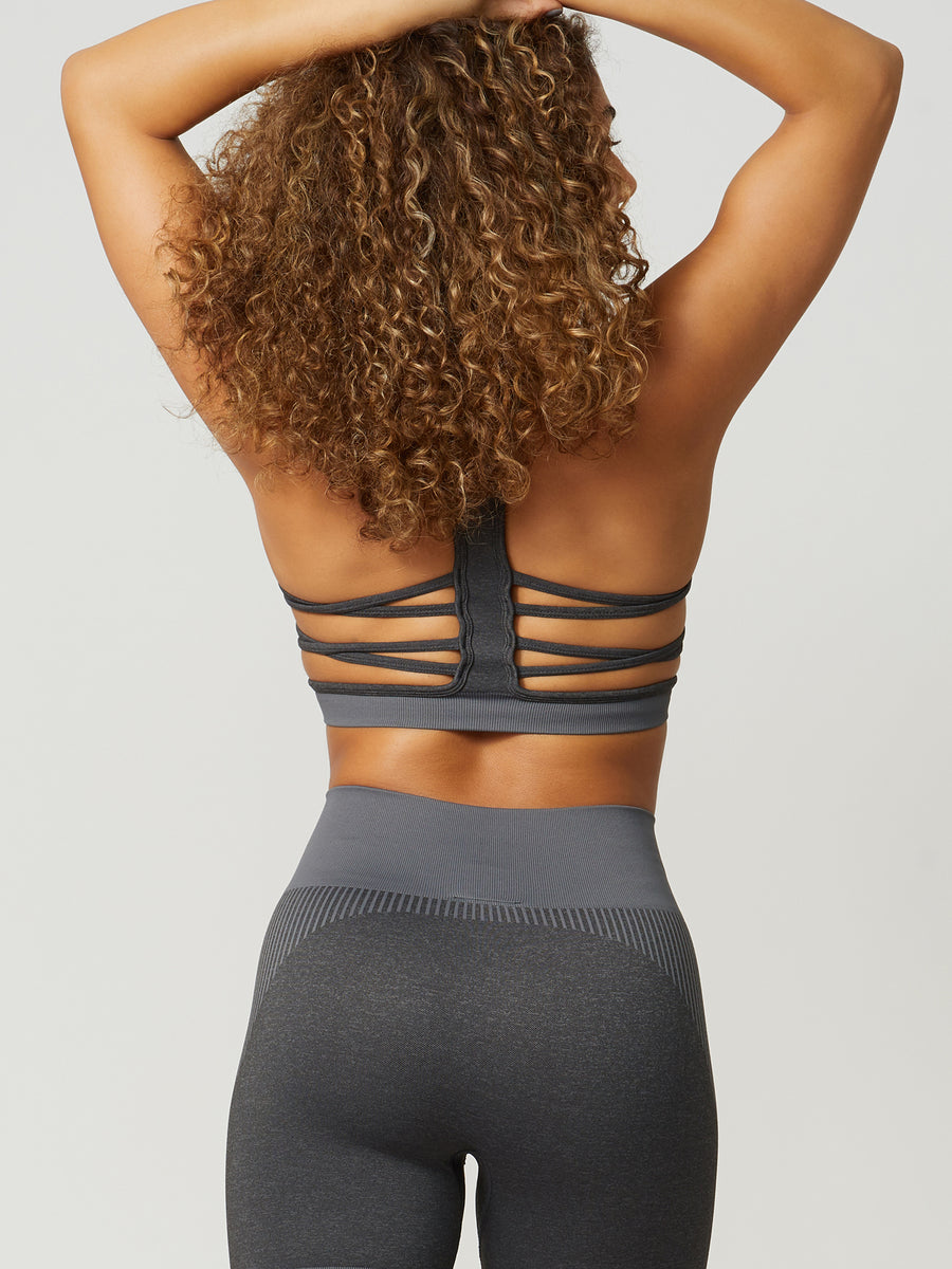 NEW Revival Seamless Sports Bra - Charcoal