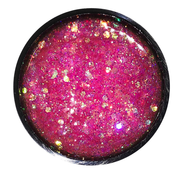 Think pink glitterlust uv led glitter gel