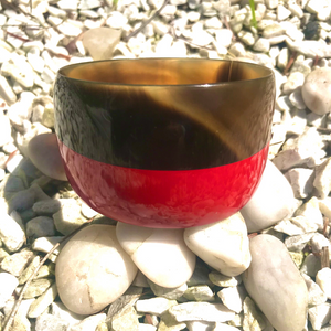 Horn & Red Lacquer Cuff