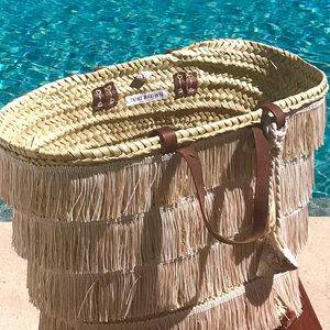 The Shimmy Bag - Straw Beach Basket | Beige | Large