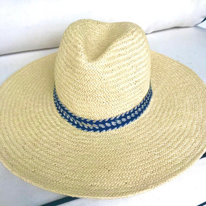 Navy & Sliver Wave | Panama Hat
