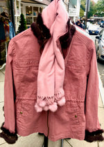 Load image into Gallery viewer, Nantucket Red Field Jacket - Fur Collar & Cuff