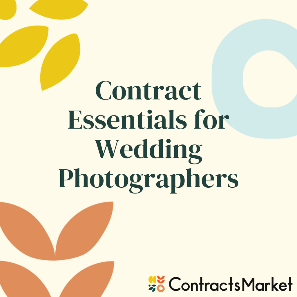 Wedding Photography Agreement Contract Canada