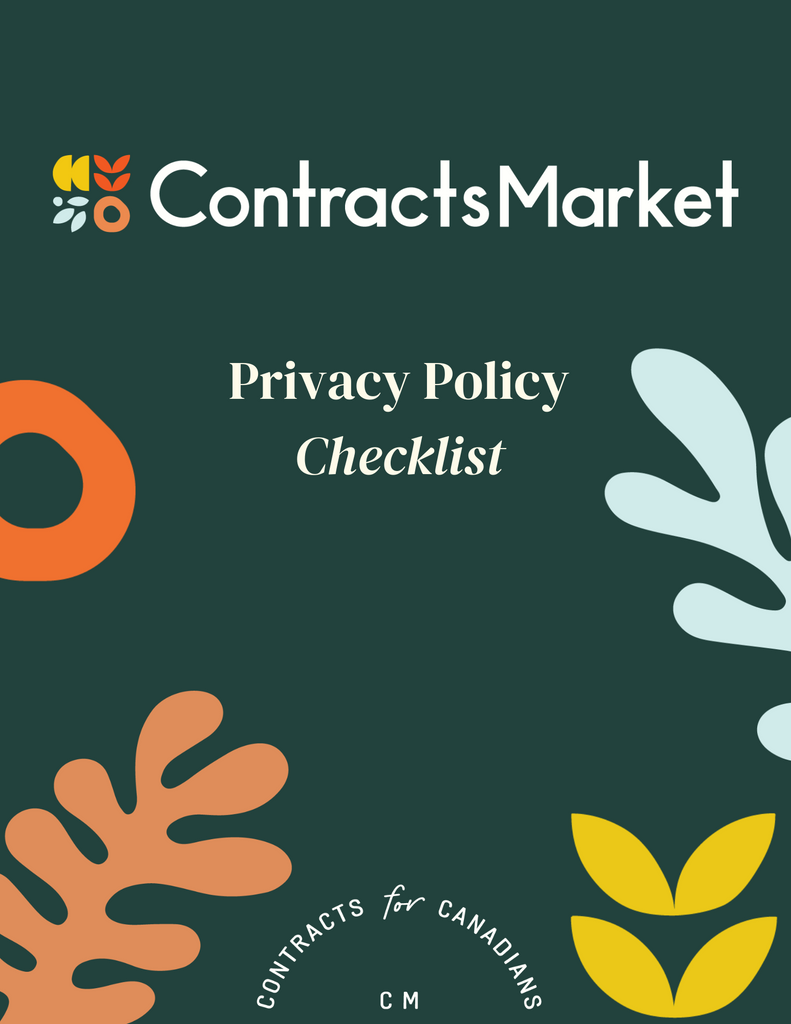 Website Terms of Use and Privacy Policy - Contracts Market