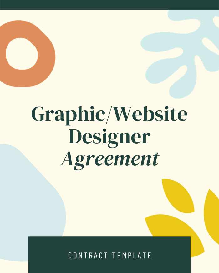 Graphic/Website Design Agreement - Contracts Market