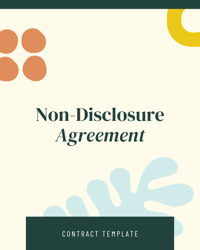 Non-disclosure Agreement - Contracts Market
