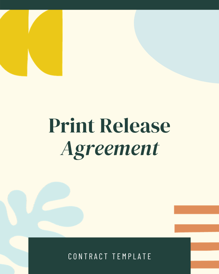 Photography Print Release - Contracts Market