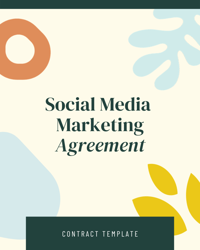 Social Media Marketing Agreement - Contracts Market