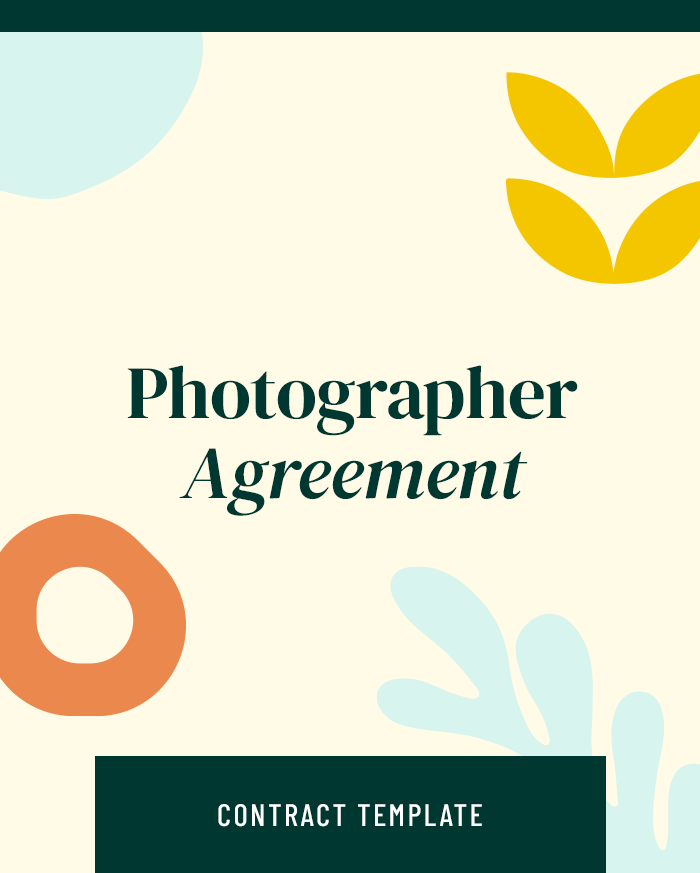 Photographer Agreement - Contracts Market