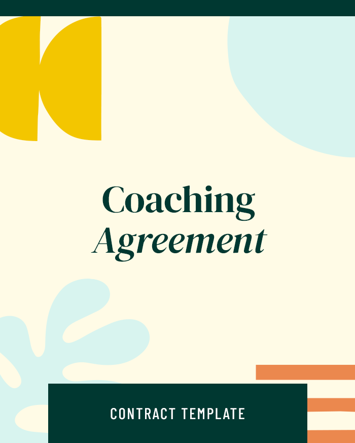 Coaching Agreement - Contracts Market