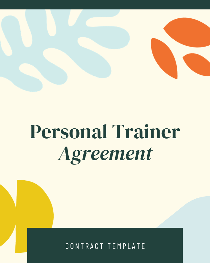 Personal Trainer Agreement - Contracts Market