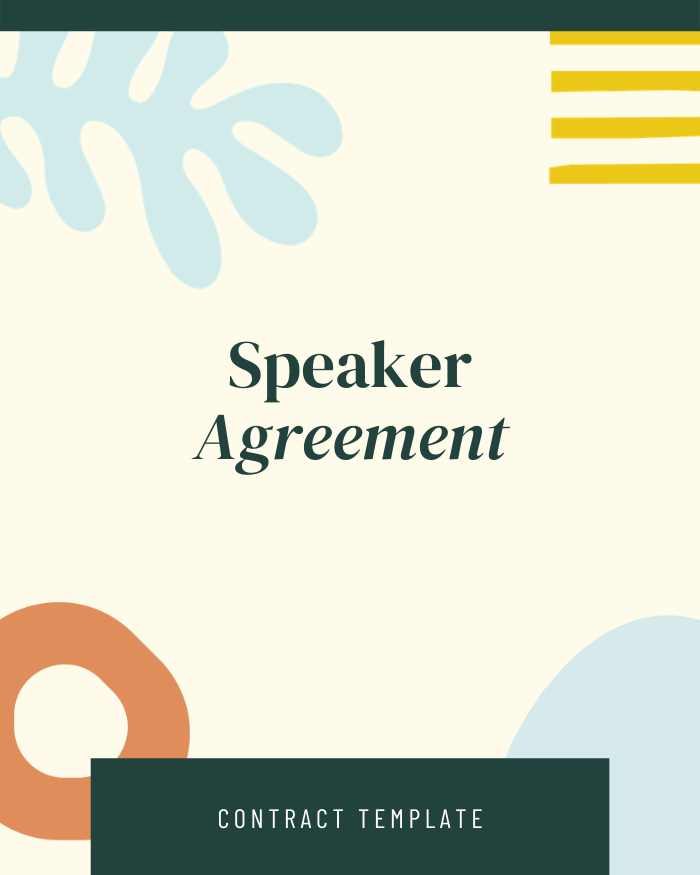 Speaker Agreement - Contracts Market