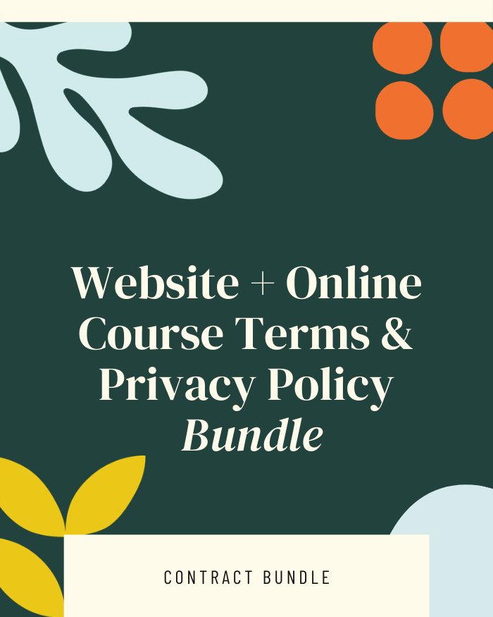 Website Terms of Use and Privacy Policy (+Online Course Terms) - Contracts Market