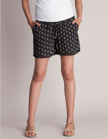 Short casual negro estampado