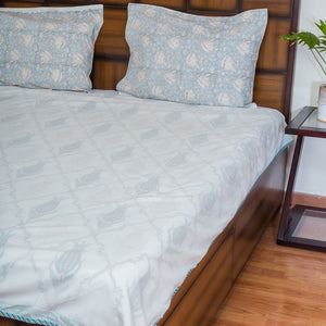 After The Rains Pure Muslin, Reversible AC Comforter for Single Bed (60X90 inch)-Malmal Comforters-CottonLanes