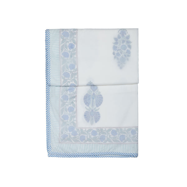 Blue Twins Pure Muslin, Reversible AC Comforter for Single Bed (60x90 inch)-Malmal Comforters-CottonLanes