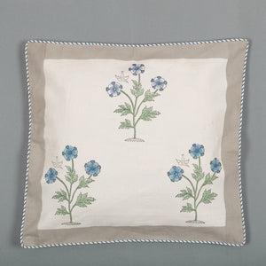 Buds Trio Canvas Cushion Covers Set of 5-Cushion Covers-CottonLanes