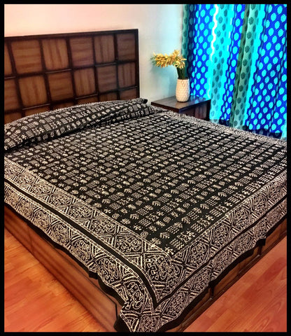 Chaukhat Double-Bed Bedcover-CottonLanes