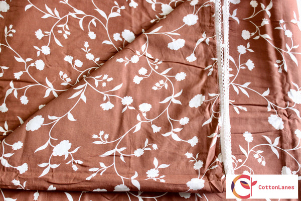 Chocolate Double Bed Reversible Comforter-CottonLanes