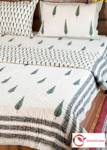 Cypress Single Bed Quilt-CottonLanes