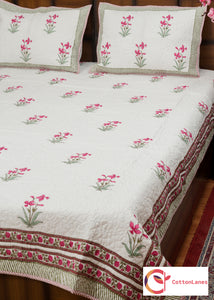 Firangipani Quilted Bedcover-Bedcovers-CottonLanes