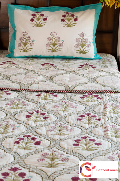 Floral Window Quilt-CottonLanes
