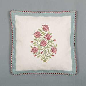 Flower Bunch Canvas Cushion Covers Set of 5-Cushion Covers-CottonLanes