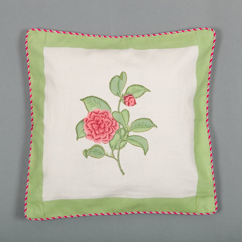 Flower Garden Canvas Cushion Covers Set of 5-Cushion Covers-CottonLanes