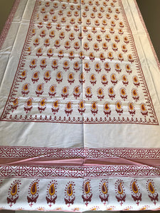 Golden Feather Bedsheet - Single Bed-CottonLanes