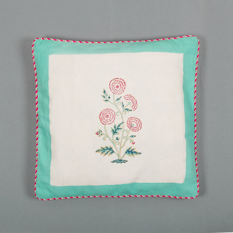 Marigold Letter Canvas Cushion Covers Set of 5-Cushion Covers-CottonLanes