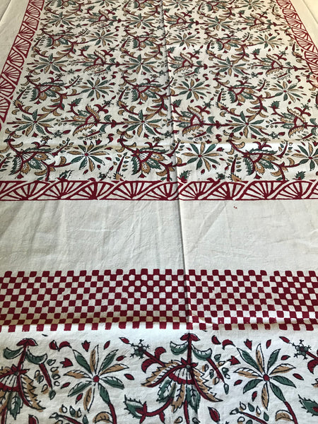 Maroon Sand Bedsheet - Single Bed-CottonLanes