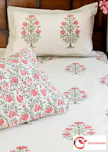 Peach Tea Rose Bedsheet