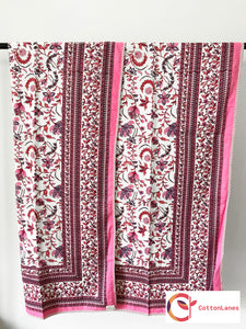 Pink All Over Comforter-Mughal Comforters-CottonLanes