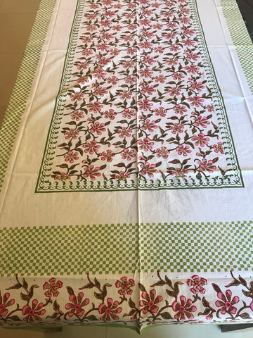 Pink Poppy Bedsheet - Single Bed-CottonLanes